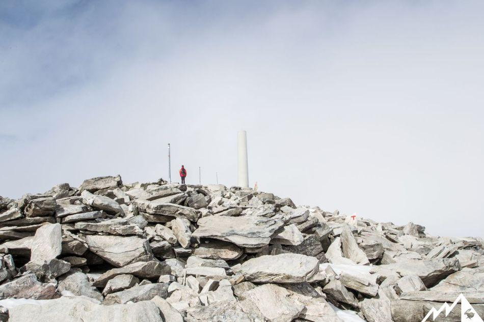 Am Gipfelplateau der Snøhetta.