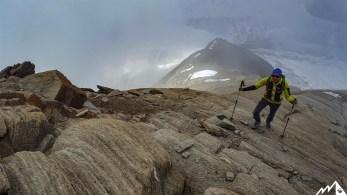 Plattiger Gipfelgrat.