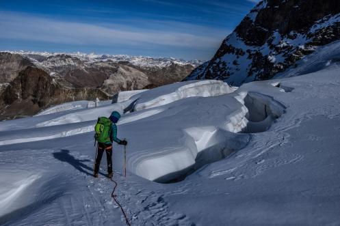 Piz Palü_Gletscherspalte