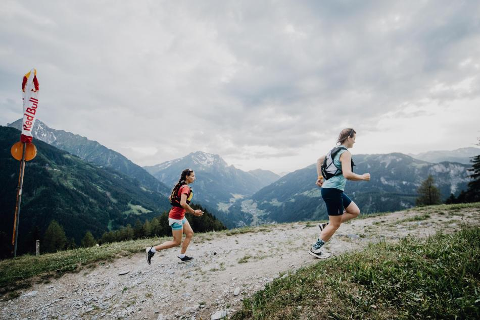 Trailrunning beim Red Bull Almauftrieb im Zillertal.