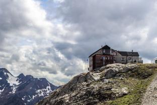 """Berghaus """"Schöne Aussicht""""."""