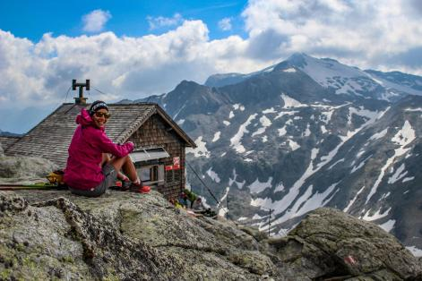 Bergtour Hoher Sonnblick, Rojacherhütte.