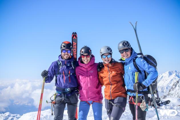 Gipfelglück am Piz Palü.