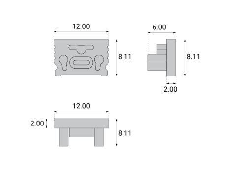 Profile aluminiowe PRO-11 - zaślepki
