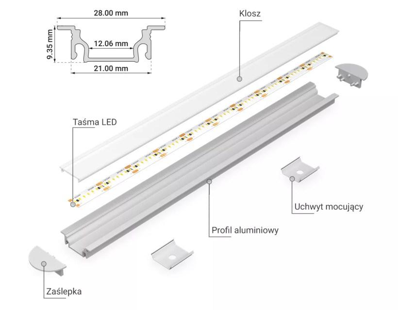 Profil aluminiowy PRO-7