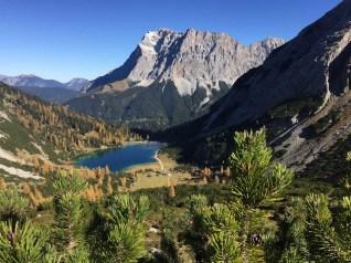 Ausblick auf Seebensee und Zugspitze