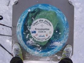 Tafel auf der Kreuzspitze