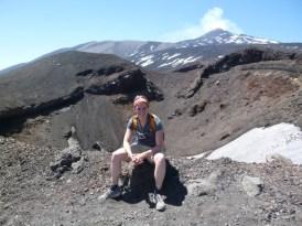 Bei einem der kleineren Krater