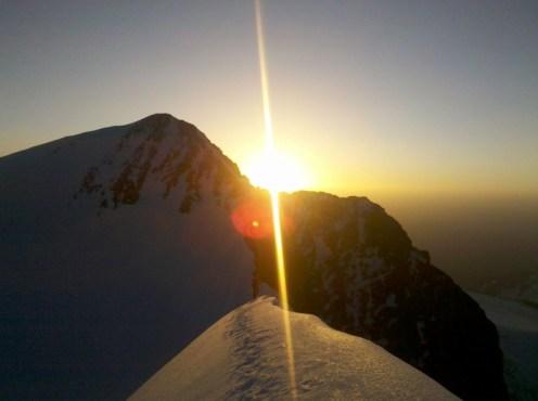 Sonnenaufgang am Piz Argient