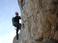 Kurz unter dem Gipfel (nicht schwierig)