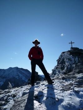 Gipfelbild (diesen Hut habe ich verloren, wer ihn zufällig findet, bitte melden!)