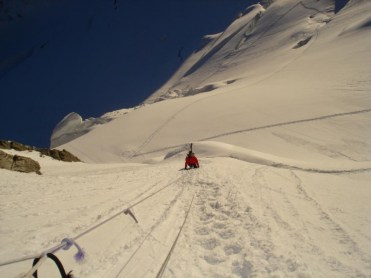 Bergschrund Mont Maudit