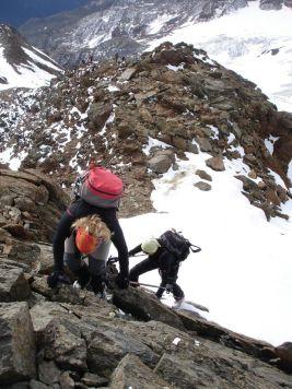 Kurze Klettereinlage