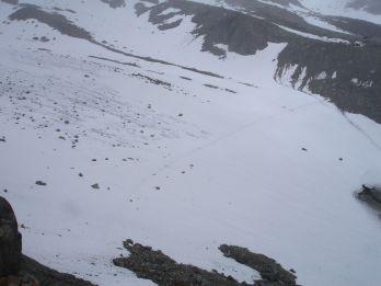 Der kleine Gletscher (oder das große Schneefeld)
