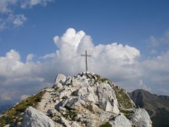 Der schneeweiße Gipfel des Weißhorns