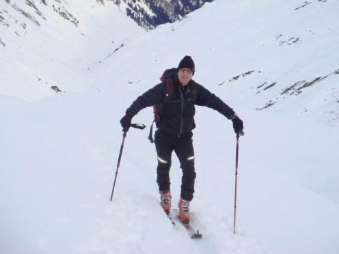 Hanspeter beim Aufstieg