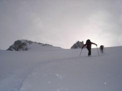 Die letzten Meter zum Skidepot