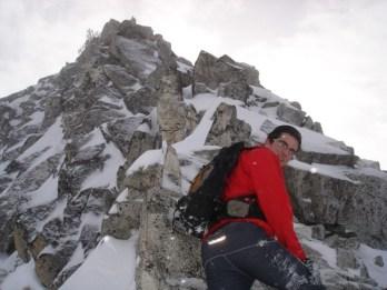 Der kurze Gipfelgrat