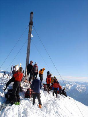 Gipfelbild mit Bergzeckn