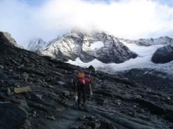 Schneebedeckt der Großglockner (nach der Stüdlhütte)