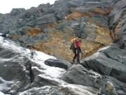 Joe beim Abstieg unter der Erzh. Johann Hütte