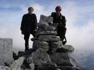 Gipfel-Steinmänner auf dem Hochflachkofel