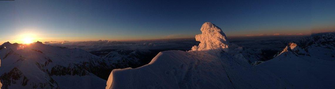 Sonnenaufgang Hoher Weißzint 3370mt