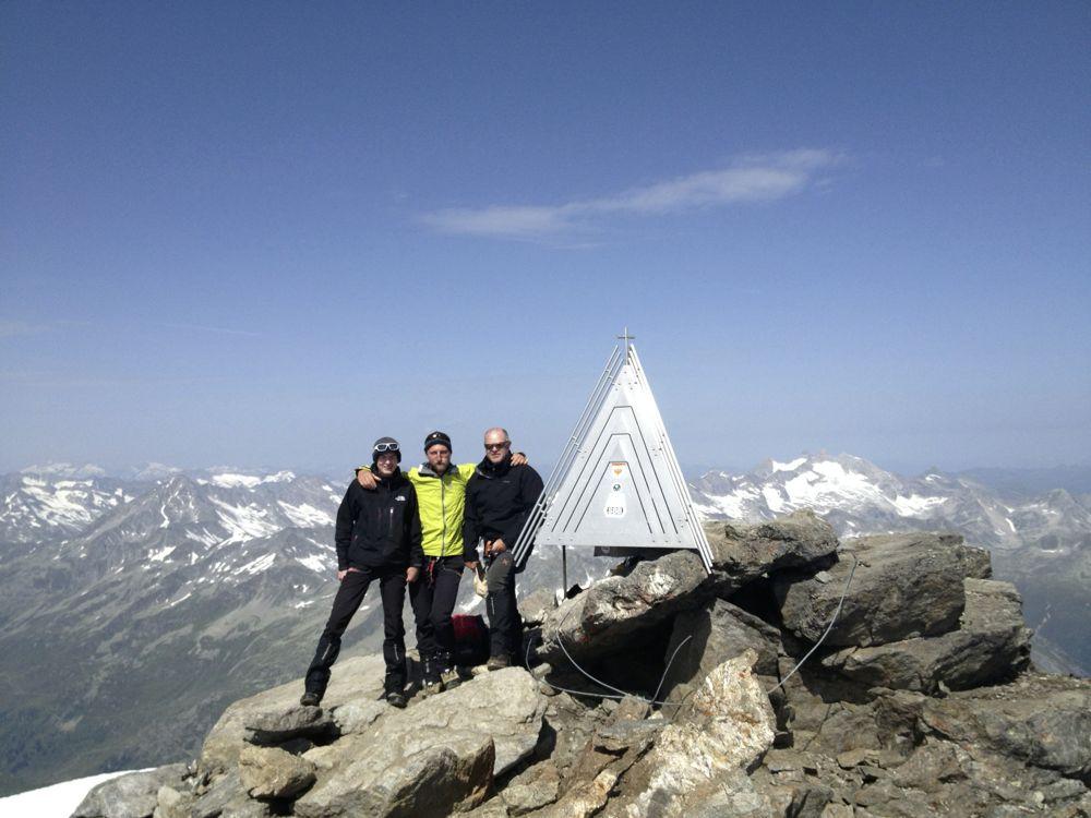 Dreiherrenspitze (3498m) Normalweg Lenkjöchlhütte