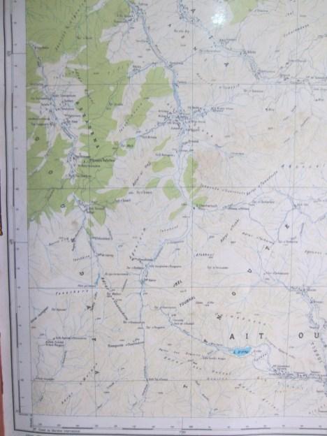 Foto einer Landkarte des Gebietes