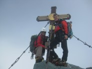 Joe und ich am Gipfel