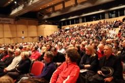 Eröffnungsdiskussion am Dienstag, 3. November im ausverkauften Saal im Forum Brixen.