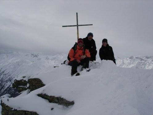 Gipfelfoto mit mir, Joe und Jessica