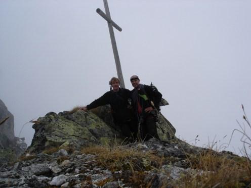Das Gipfelkreuz vom Obwasserer