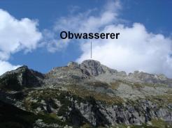 Der Gipfel von unten gesehen