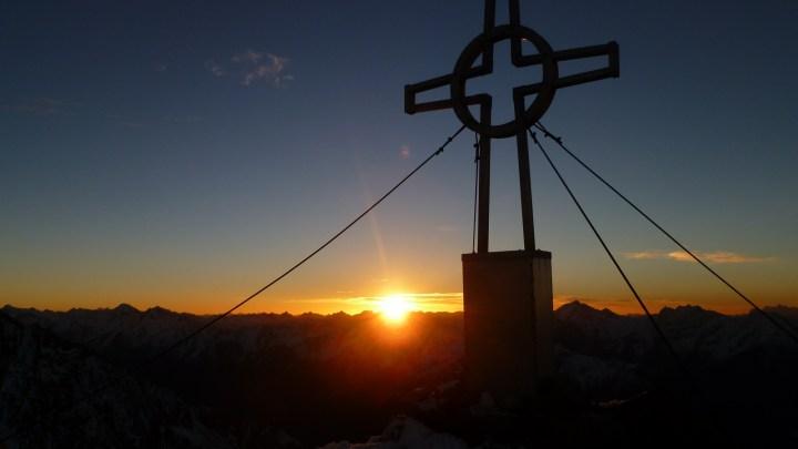 Sunnaufgong 1. Hornspitze