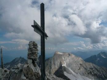 Gipfelkreuz und Lodner