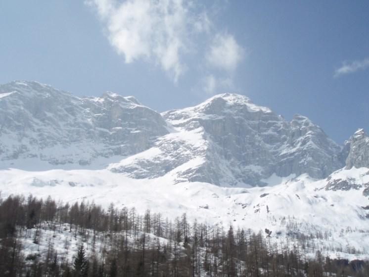 Route von der Baita Civetta gesehen