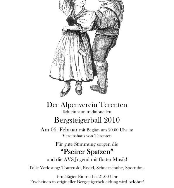 Bergsteigerball 2010 in Terenten