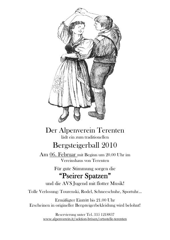 Plakat Bergsteiger Ball