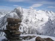 Blick vom Gipfel zum Hochfeiler