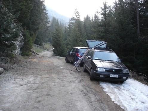 Früh mußten wir das Auto schon parken.