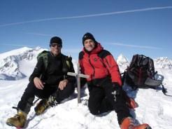 Am Gipfel der Östl. Veneziaspitze
