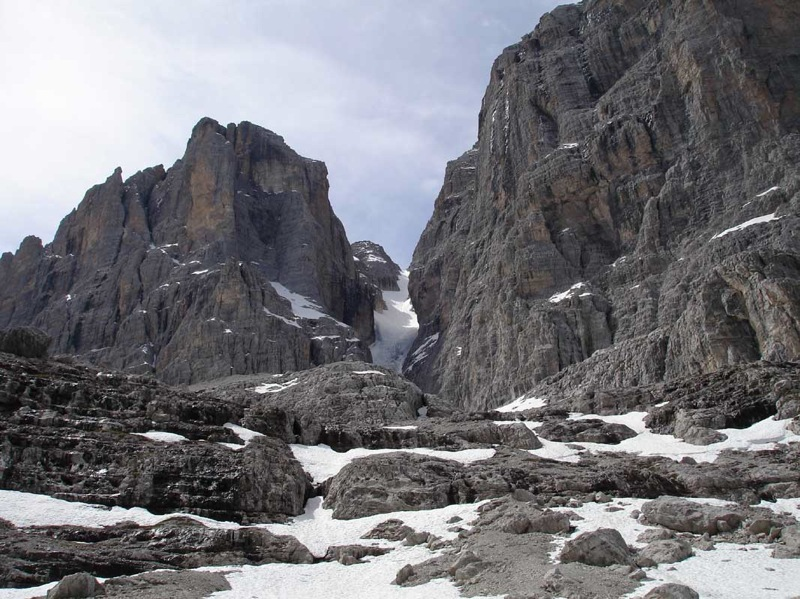 Ski-trage-tour Cima Tosa (Canalone Tosa) 3173m