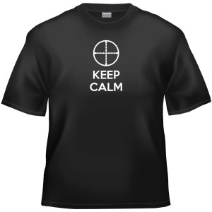Keep calm rifle scope cross-hair t-shirt
