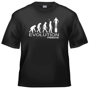 Evolution Freediving - freediver t-shirt