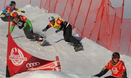 Snowboardcross der Audi Snowboard Series in Sedrun