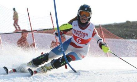 Aline Danioth kann ihre Premiere im Weltcup feiern