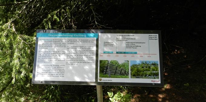 Lawinenlehrpfad am Chilchenberg neu gestaltet