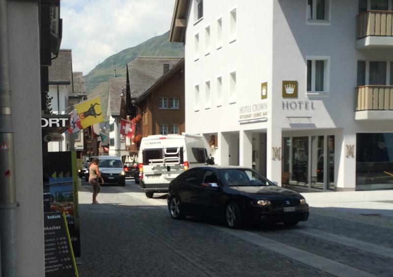 Dorf Verkehr