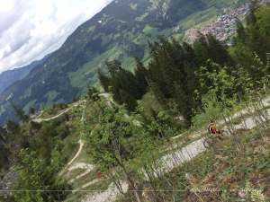 Abfahrt vom höchsten Punkt zur Bergstation Imbergbahn